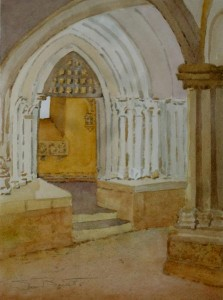 """Petite Chapelle Carrenac"" watercolor by Sue Bennett"