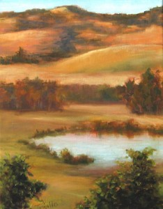 Billings Pond, Oil, Artist Silvia Trujillo