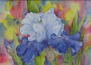 Iris Bouquet, watercolor by Dodie Hamilton-Brandon
