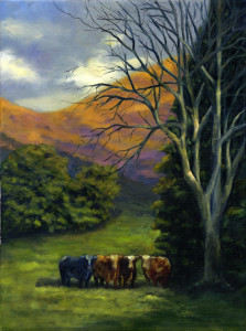 """""""Rural Happy Hour""""  Oil by Dana Feagin"""