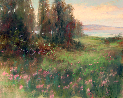Morning by the Bay pastel painting by Willo Balfrey