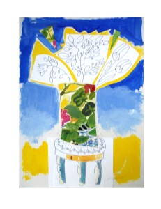A HAPPY BOUQUET collage by Nancy Zufich