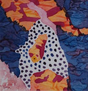 """""""Rhythm and Blues"""" Mixed media by Lynda Hoffman-Snodgrass"""