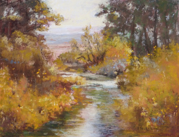 """Along the Blitzen"" Pastel by Steve Bennett"