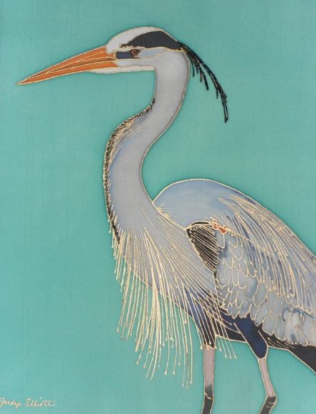 """Majestic"" Hand Painted Silk by Judy Elliott"