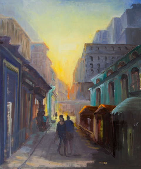 """Dawn in Havana"" Oil painting by Gloria Kastenberg"
