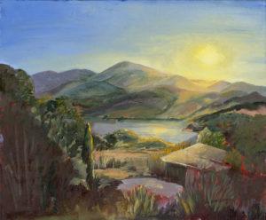 """Sunrise at Emigrant Lake"" Oil Painting by Gloria Kastenberg"