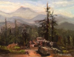 """Mount Ashland"" Oil by  Gloria Kastenberg"