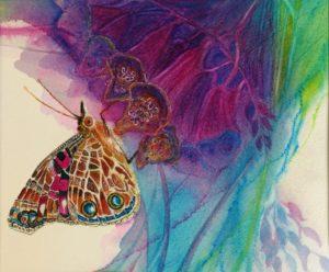 """""""Lady Foxglove"""" Watercolor by Pamela Haunchild"""