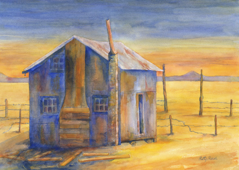 """Blue Joint"" Watercolor by Betty Barss"