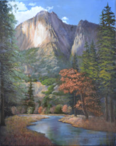 """Yosemite Cloud Shadows"" Oil painting by Carla Griffin"