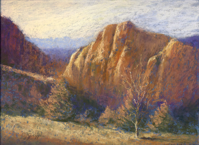 """Smith Rock"" Pastel painting by Carla Griffin"