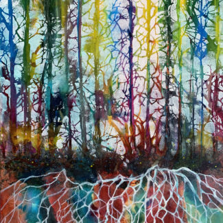 """""""The Language of Trees"""" Mixed Watermedia by Pam Haunschild"""