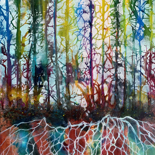 """The Language of Trees"" Mixed Watermedia by Pam Haunschild"