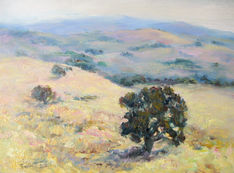 """Hill Song"" Oil on Canvas by Silvia Trujillo"