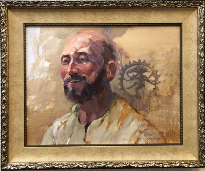 """sivo'ham, sivo'ham"" (I am Shiva, I am Shiva) Oil by Eric Peterson, framing by Peter Stone"
