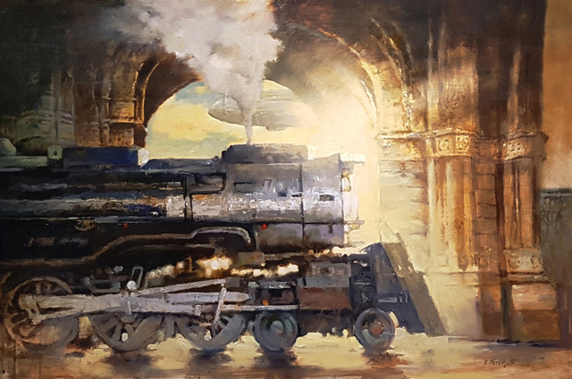 Dream Tracks #1, Oil by Eric Peterson