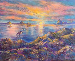 Dawn Dream by Marjett Schille Mixed Media