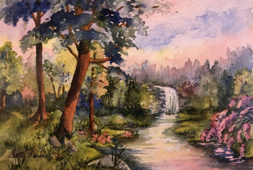 """""""Lillie's Refuge"""" watercolor by Betty Barss"""