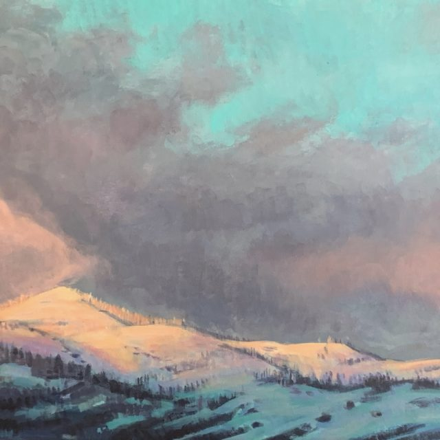 """Grizzly Peak Sunset"" Acrylic by Jenay Elder"