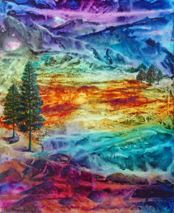 """""""The Dawn of Earth Day"""" Acrylic painting by Pam Haunschild"""