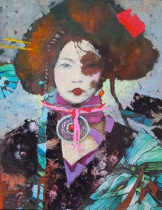 """""""Adornment #3"""" Mixed Media Painting by Eric Peterson"""