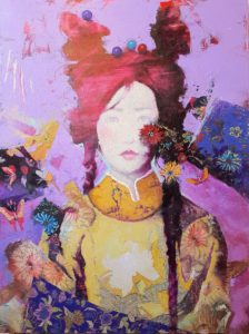 """""""Adornment #5"""" Mixed Media painting by Eric Peterson"""