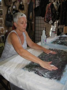 Jo Ann at work in her studio