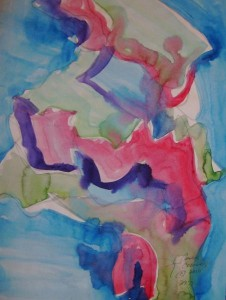 Abstract Watercolor by Cynthia Flowers