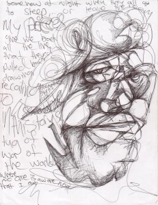 Self Portrait by Miles Frode, Pen and Ink