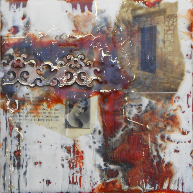 Encaustic mixed media by Elaine Frenett