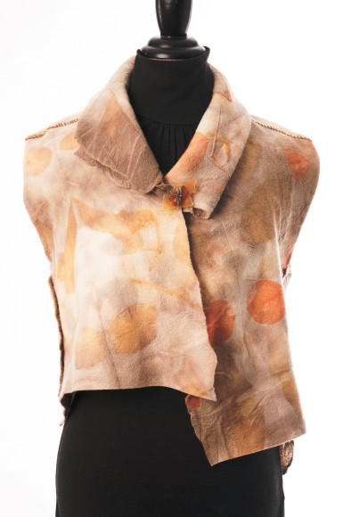 Botanically printed vest