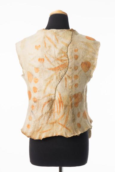 felt vest printed with eucalyptus