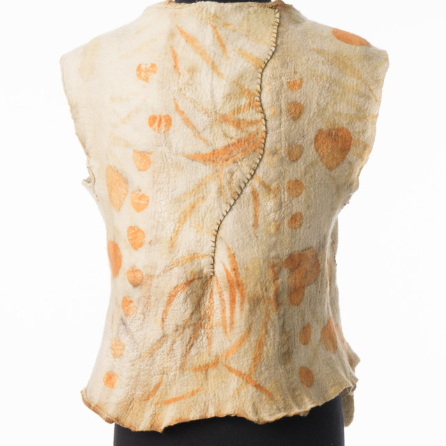 felt vest printed with eucalyptus