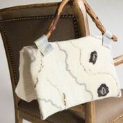 felted purse white back