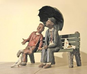 "Marlyn Reeves ""Two Guys on a Park Bench"" - photo: M O'Rourke"