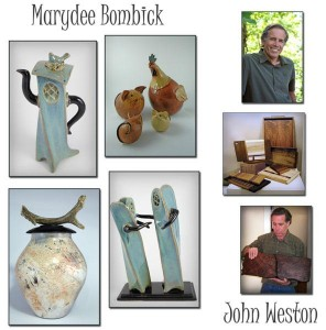 """Clay Creatures"" by Marydee Bombick and ""Wonderful Wood"" by John Weston"