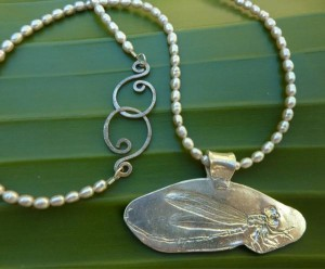 "New member Sierra Gwin""s Silver Dragonfly Necklace"