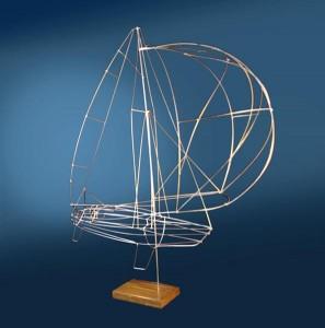 Spinnaker - Wire Sculpture by George Popa -photo: Katy Popa & M O'Rourke