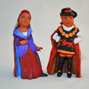 Shakespeare figures, by Marilyn Reeves
