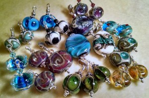Fused glass jewelry by Annette Trujillo