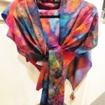 Silk hand-dyed shawls - Connie Simonsen