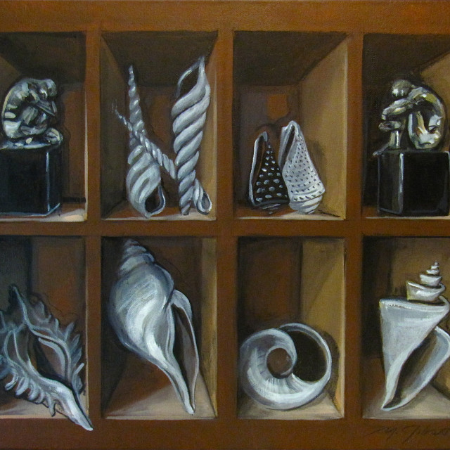 """Shell Collection,"" oil, by Michael Gibson"