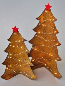 Metal Christmas trees - Cheryl Kempner