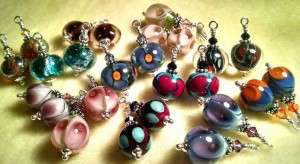 Fused glass earrings - Annette Trujillo