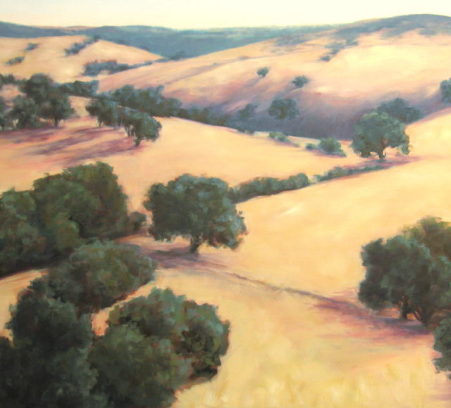 """Wine Country Wandering"" Silvia Trujillo 24X36 Oil"