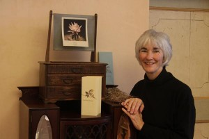 Founder Cathy DeForest with her artist books