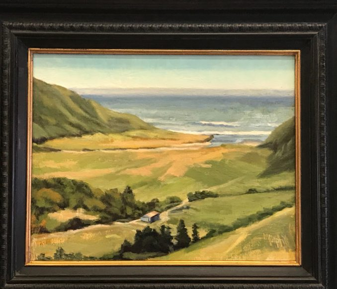 "At the Mouth of Bear River, Oil on canvas, 19"" x 16""  $595"