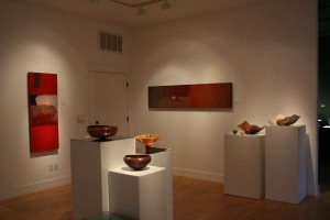 Installation view of RED