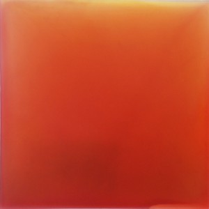 Keira Kotler Orange Meditation, (I Look for Light) , 2013 urethane, pigment, and varnish on acrylic   33 x 33 in